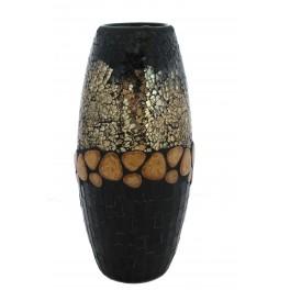 Vaza inalta mozaic sticla si pietre