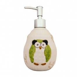 Set accesorii bucatarie Funny Owl, Verde