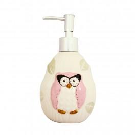 Set accesorii bucatarie Funny Owl, Roz