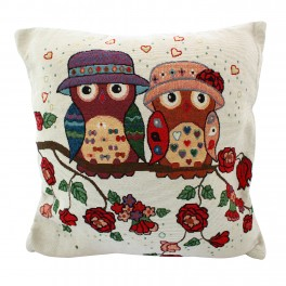Set huse pentru perne decorative Mr & Mrs Owl
