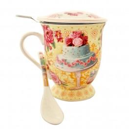 Cana pentru ceai Cake, Galben