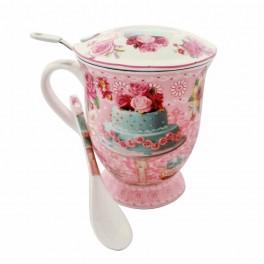 Cana pentru ceai Cake, Roz