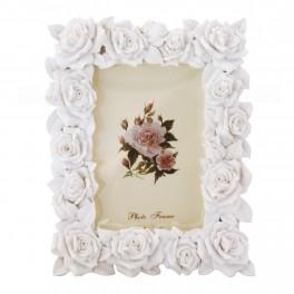 Rama foto Roses, Alb, 13 x 9 cm
