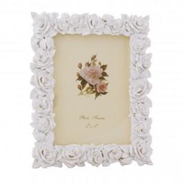 Rama foto Roses, Alb, 16 x 11 cm