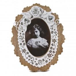 Rama foto ovala Floral, 10 x 15 cm