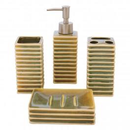 Set accesorii de baie, Verde Cameleon