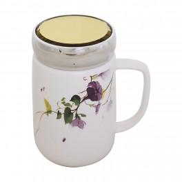 Cana din ceramica Flowers