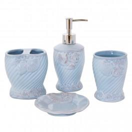 Set accesorii de baie Sealife, Bleu