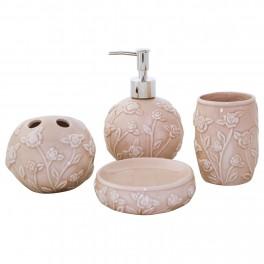 Set accesorii de baie Rosy, Crem