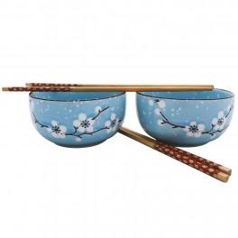 Set boluri Model Floral, Bleu