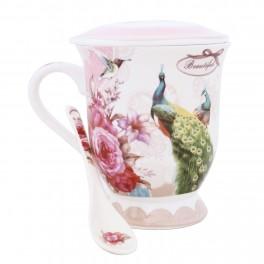 Cana pentru ceai Peacock Pink