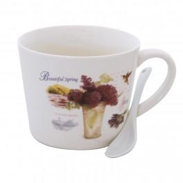 Cana de cafea cu lingurita Beautiful Spring