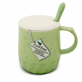 Cana cu capac si lingurita Basic Mug, Coffee