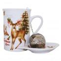 Cana pentru ceai Christmas Deer, 250 ml