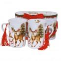 Set cani de cafea Christmas Deer