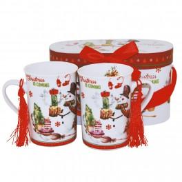 Set cani de cafea Christmas Snowman