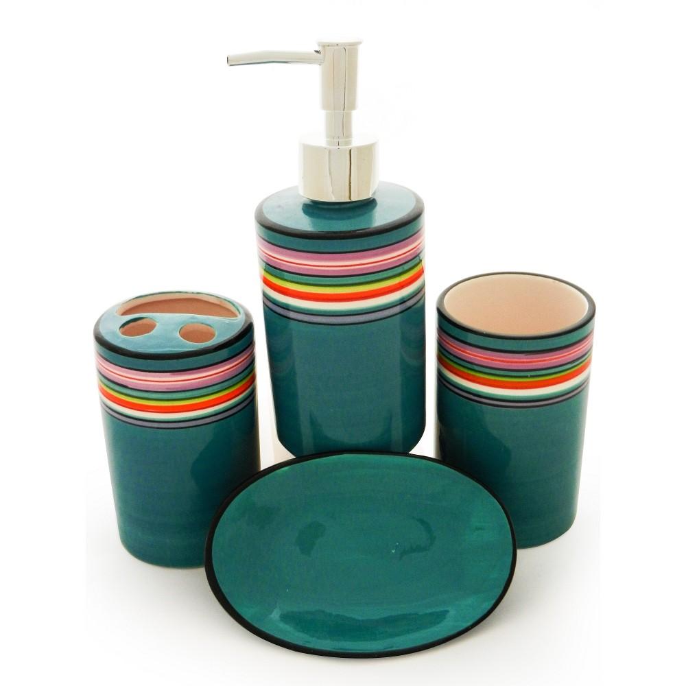 accesorii baie plastic Set accesorii de baie Colorful   Chinastore.ro accesorii baie plastic