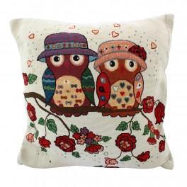 Set huse pentru perne decorative Mr & Mrs Owl
