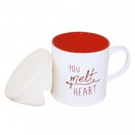 Cana de cafea cu capac You Melt My Heart