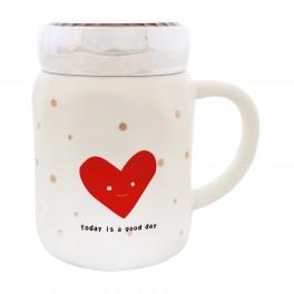 Cana din ceramica Heart