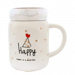 Cana din ceramica Happy