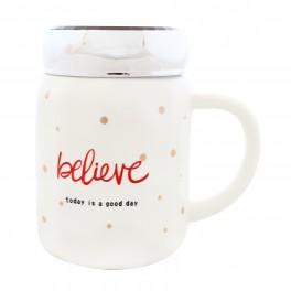 Cana din ceramica Believe